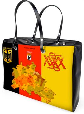 exkl. HANDTASCHE `BERLIN´- Design M. A. MARTIN - Berlin, majestic-world.com, exklusive-golfsportmode, exklusiver-designerdruck, kunstdesign von-m-a-martin, exklusive-freizeitmode, exklusive-taschen,exklusive-accessoires, damen-und-herren-freizeitmode, rei