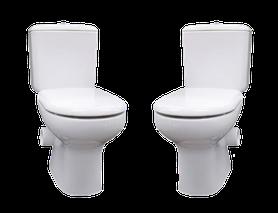 Modern Liwa Ceramic Skew Closed Coupled Suite - Modern Ceramic Skewed Toilet Suite - Right Skew Trap, set out skew trap 185mm, WELS 4 star rating, 4.5/3L, $475.00