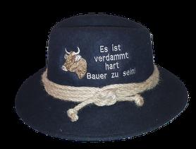 """Hut mit Stick """"Es ist verdammt hart, Bauer zu sein"""""""