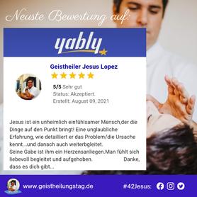 Bewertung auf Yably über Geistheiler Jesus Lopez