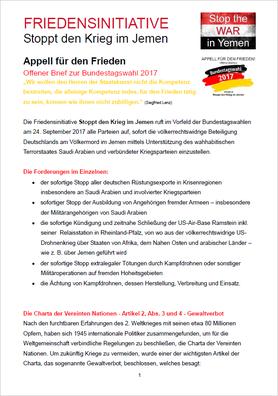 (D) PDF-Download - Appell für den Frieden - Offener Brief zur Bundestagswahl 2017