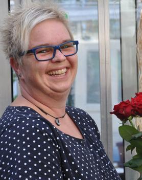 Das Grünschnabel-Team - Kerstin Hewera ist seit 2011 als Floristin beim Grünschnabel