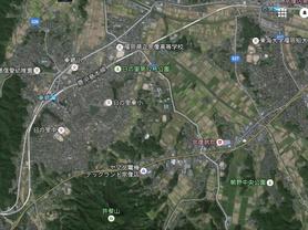 宗像高等学校の航空実写地図