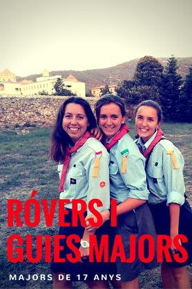 Rovers, Pilots, Guies Majors, Foc, Clan, Scouts Europa