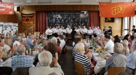 Gut besuchtes Bürgerhaus zur SPD Feier