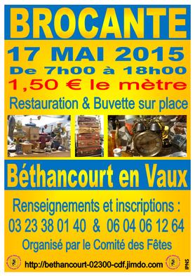Affiche : Comité des Fêtes de Béthancourt en Vaux.