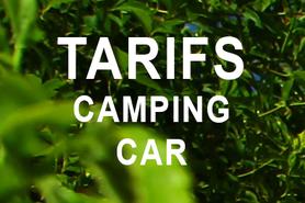 TARIFS CAMPING CAR