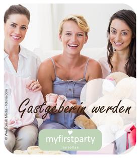 myfirstparty Homeparty Shoppingparty für Baby und Kind Babyparty Gastgeberin werden
