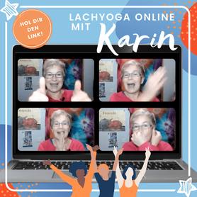 Lachyoga online mit Karin