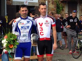 R. Morgat et Loïc les deux premiers de la course