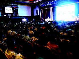 ISCO設立記念フォーラムには約270人が参加した=12日午後、沖縄かりゆしアーバンリゾート・ナハ