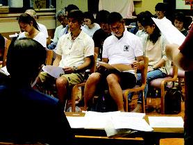 観音堂地区自治会設立総会の参加者たち=29日夜、八重山厚生園多目的ホール