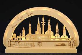 Städtebogen Hamburg mit LED Technik #Hamburg #Erzgebirge