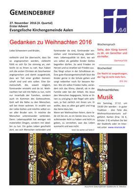 Gemeindebrief Aalen 2016-12