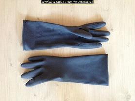 Utensilien zur Möbelbearbeitung, Gummi-Handschuhe