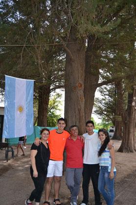 Tere, Franco, Eliot, Imanol y Sabrina
