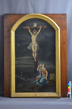 Altarblatt Huerten-Museum Vorzustand