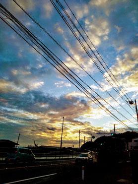 鎌倉 長谷 海沿い 夕暮れ