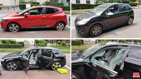 Vitres brisées sur plusieurs voitures à Vélizy-Villacoublay.