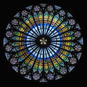 Straßburger Münster, Rosette der Westfassade