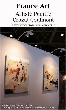 Artistes Contemporains- Oeuvre unique (Enduit de chaux/ bois)- Peintre Contemporain