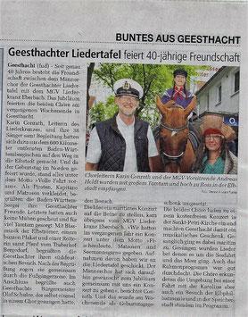 Eberbacher Männerchor  Emffang in Geesthacht