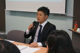 第1期日韓未来フォーラム実行委員長(河野光汰)