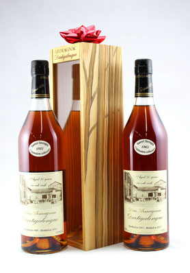Dartigalongue Bas Armagnac Celebration Collection - vintage armagancs with optional hand-painted and signed gift box by French artist, Philippe Lejeune  - Rare & Exceptional Spirit Gift Ideas - HeavenlySpirits