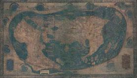 Mapa confeccionado por Henricus Martellus, cartógrafo alemán.  © Foto:  Blasting News.