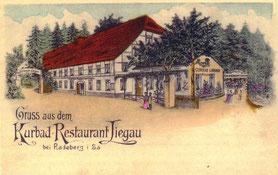 Herrmannbad Liegau, Kurbad Liegau, 1857 vom Rittergutsbesitzer Johann Georg Herrmann gegründet