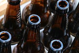 recycelte Flaschen