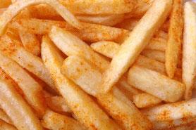 Mit Paprika gewürzte Pommes frites