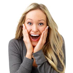 Weisse Zähne in einer Stunde mit Power-Bleaching