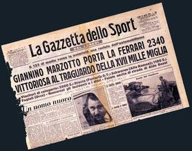 Giannino Marzotto en la Mille Miglia