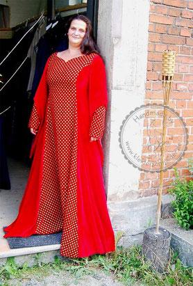 Mittelalterliche Robe, Mittelalterkleid, Gewand
