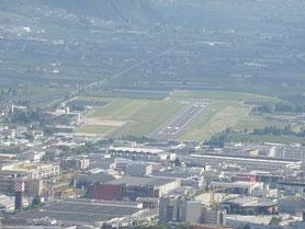 Bild vom Flugplatz Bozen in Südtirols Landeshauptstadt