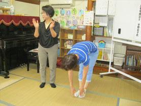 体操後、床に手がつくようになった参加者