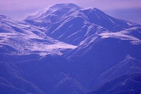 白山眺望 美川駅付近から2019年1月撮影