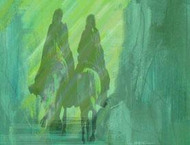 Sardrowain und Andrar (Ausschnitt aus dem Lichtsturm-Cover)