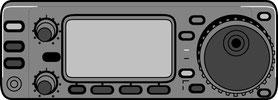 阿蘇無線救護隊の無線機イメージ