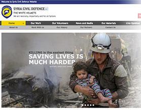 Website Syrische Weißhelme