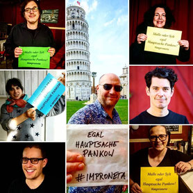 Cast Impro Berlin Theater Improtheater Improneta Festival Zurück in die Zukünfte BAB