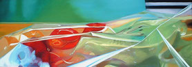 Kiwi Öl auf Leinwand 50 x 140 cm