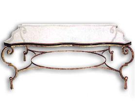 Кованый стол столещница из стекла