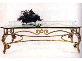 Металлический кованый стол, слекло