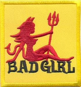 BADGIRL_gallery_BAD_GIRL_Devil_Bitch_Dirty_Gilr_Lady_Biker_Rocker_HEavy_Metal_Patch_Aufnaeher