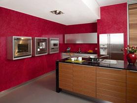 Küchengestaltung in Spachteltechnik