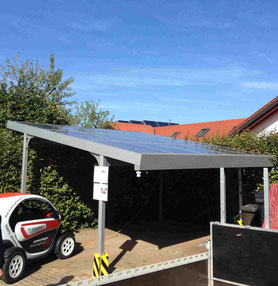 ein solar carport ist ideal um das e bike oder elektroauto aufzuladen solar photovolatik. Black Bedroom Furniture Sets. Home Design Ideas