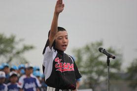 湯野学童野球クラブ 主将 東出 大輝