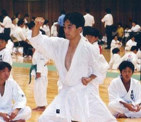 2001.09.09 白帯で出場し、県大会で準優勝